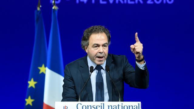 Luc Chatel, le nouveau président du Conseil national des Républicains, le 13 février 2016 à Paris [LIONEL BONAVENTURE / AFP]