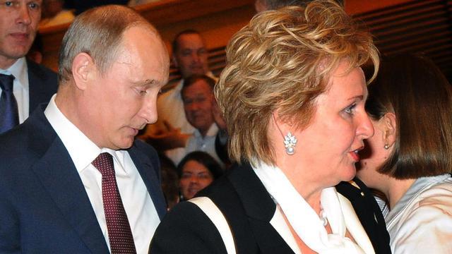Vladimir Poutine et son ex-femme Lioudmila le 6 juin 2013 à Moscou [Mikhail Klimentyev / Ria-Novosti/AFP/Archives]
