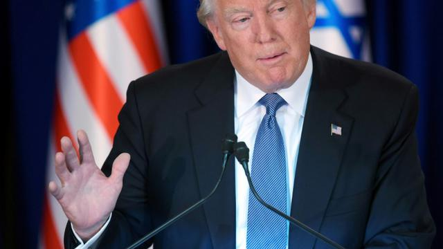 Le président américain Donald Trump à Jérusalem, le 22 mai 2017 [ / AFP]