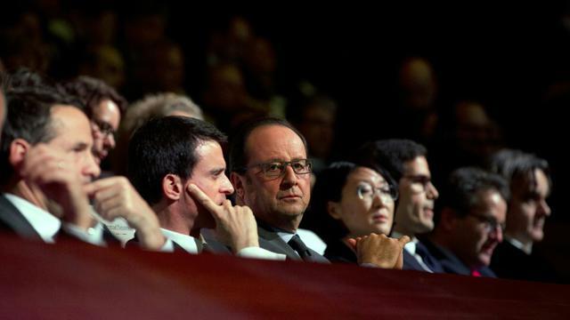 François Hollande et Manuel Valls le 11 janvier 2016 à Paris [PATRICK KOVARIK / POOL/AFP]