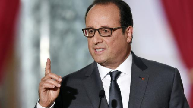 Le président François Hollande pendant la 6e conférence de presse du quinquennat le 7 septembre 2015 à l'Elysée à Paris [ALAIN JOCARD / AFP]