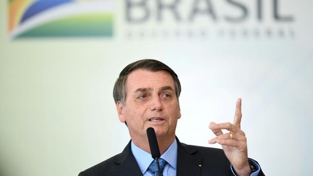 Le président brésilien Jair Bolsonaro le 16 août 2019 à Brasilia [EVARISTO SA / AFP]