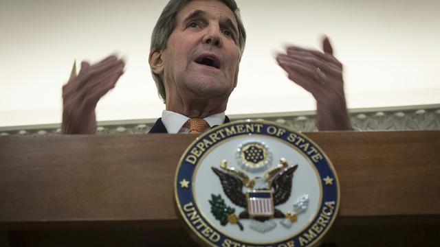 Le secrétaire d'Etat américain John Kerry, le 23 octobre 2015 à Vienne [CARLO ALLEGRI / POOL/AFP]