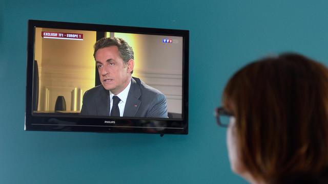 L'interview télévisée de Nicolas Sarkozy le 2 juillet 2014 après sa triple mise en examen pour corruption, trafic d'influence actif et violation du secret de l'instruction [Denis Charlet / AFP/Archives]