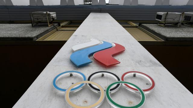 Le siège du Comité olympique russe, le 5 décembre 2017 [Kirill KUDRYAVTSEV / AFP/Archives]