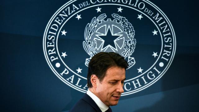 Le Premier ministre italien Giuseppe Conte à Rome le 28 décembre. [Alberto PIZZOLI / AFP]