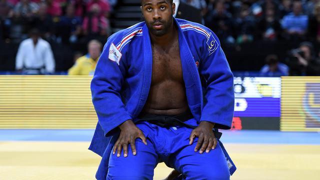 Teddy Riner, lors des Championnats d'Europe de judo, à Montpellier, le 27 avril 2014 [Pascal Guyot / AFP/Archives]