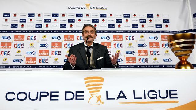 Le président de la LFP, Frédéric Thiriez, lors d'une présentation de la finale de la Coupe de la Ligue, le 13 avril 2012 [Franck Fife / AFP/Archives]