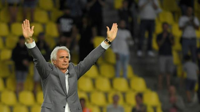 Vahid Halilhodzic après son dernier match en tant qu'entraîneur du FC Nantes en amical contre le Genoa, le 2 août 2019 au stade de La Beaujoire à Nantes  [LOIC VENANCE / AFP/Archives]