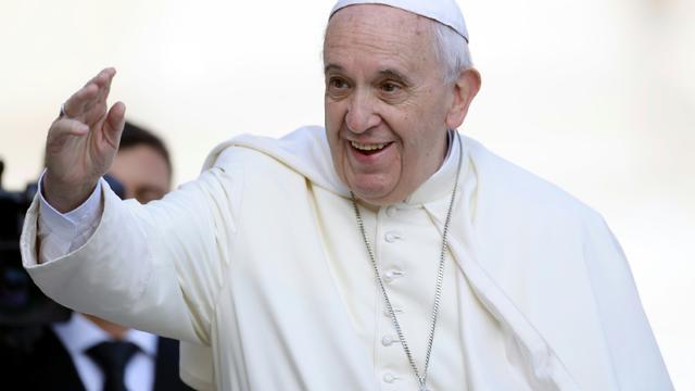 Le pape François à son arrivée place Saint Pierre le 9 septembre 2015 à Rome [FILIPPO MONTEFORTE / AFP/Archives]