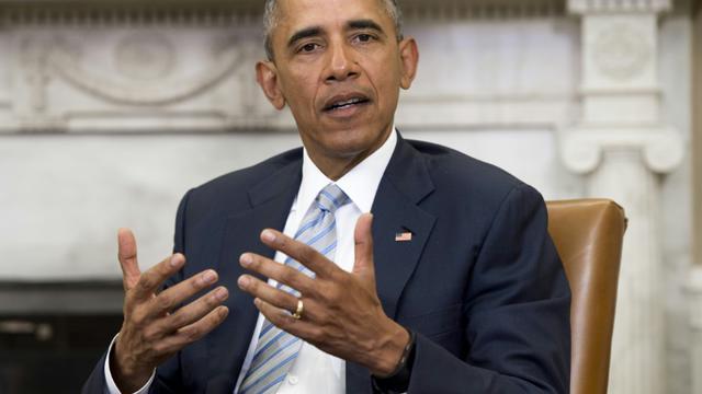 Le président des Etats-Unis Barack Obama dans le bureau ovale de la Maison blanche, à Washington, le 17 février 2016 [SAUL LOEB / AFP/Archives]