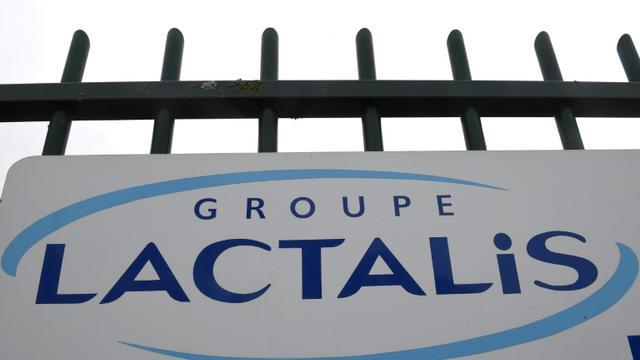 Entrée du siège du groupe Lactalis, à Laval (Ouest). Photo prise le 12 janvier 2018. [DAMIEN MEYER / AFP]