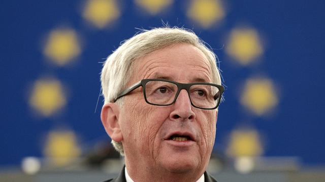 Le président de la Commission européenne Jean-Claude Juncker au Parlement européen de Strasbourg, le 9 septembre 2015 [FREDERICK FLORIN / AFP]