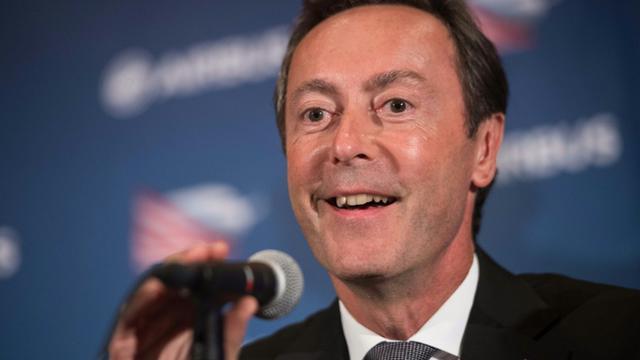 Le PDG d'Airbus, Fabrice Bregier, lors d'une conférence de presse le 13 septembre 2014 à Mobile, en Alabama[NICHOLAS KAMM / AFP]