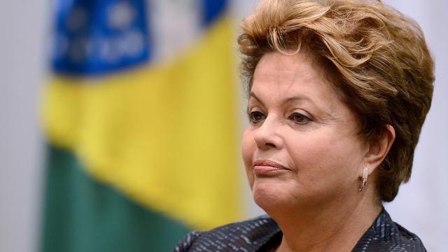 La présidente du Brésil Dilma Rousseff, le 17 juin 2013 à Brasilia [Evaristo Sa / AFP]
