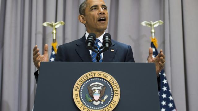 Le président américain, Barack Obama, à l'université de Washington DC, le 5 août 2015 [JIM WATSON / AFP]