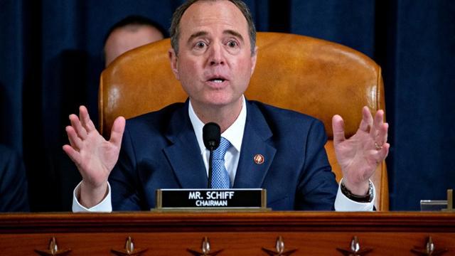 L'élu démocrate Adam Schiff au Congrès à Washington le 21 novembre 2019  [Andrew Harrer / POOL/AFP]