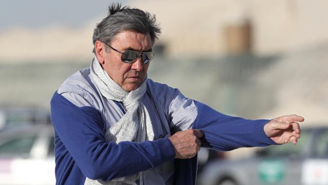 L'ancien champion cycliste belge Eddy Merckx lors du Tour du Qatar le 3 février 2012 à Doha [Karim Jaafar / AFP/Archives]