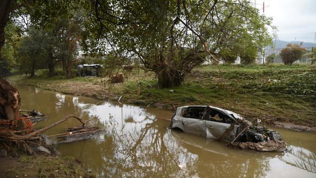 Des inondations meurtrières ont touché Cannes début octobre [Anne-Christine Poujoulat / AFP/Archives]