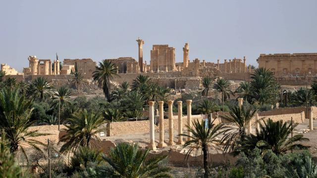 Vue générale de Palmyre en date du 18 mai 2015 [Str / AFP/Archives]