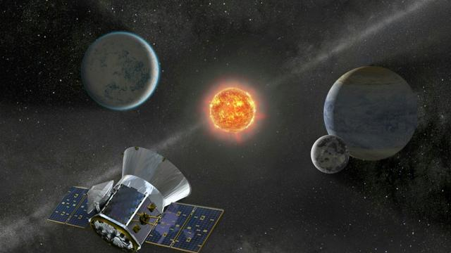 Illustration fournie par la Nasa le 11 avril 2018 montrant le Transiting Exoplanet Survey Satellite (TESS)  [Handout / NASA/AFP]