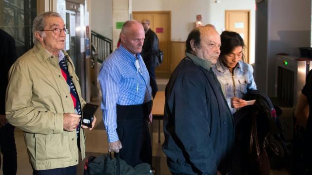 Laurent Fiocconi, Jacky Slovinsky et Jo Signoli à leur arrivée au palais de justice le 26 octobre 2015 à Marseille [BERTRAND LANGLOIS / AFP]