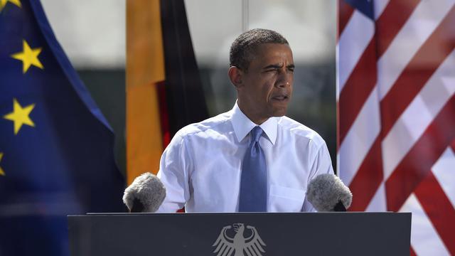 Barack Obama lors de son discours à Berlin le 19 juin 2013 [Odd Andersen / AFP]