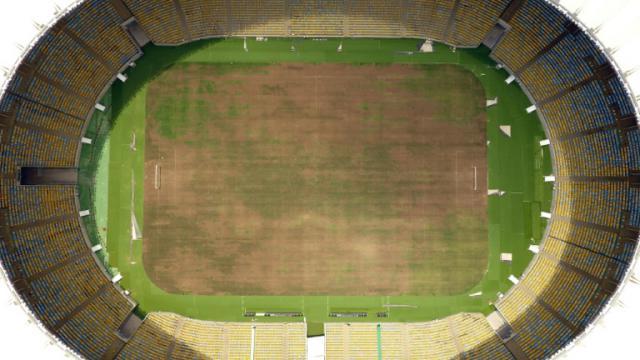 Le stade Maracana à l'abandon, à Rio le 18 janvier 2017 [VANDERLEI ALMEIDA / AFP]