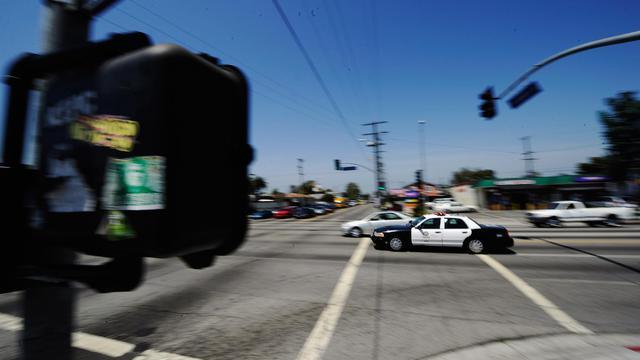 Une voiture de police américaine  [Kevork Djansezian / Getty/AFP/Archives]