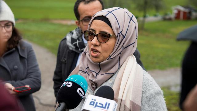 Rana Ghanem, membre de la délégation du gouvernement, le 8 décembre 2018 à Rimbo, en Suède [Henrik MONTGOMERY / TT NEWS AGENCY/AFP]