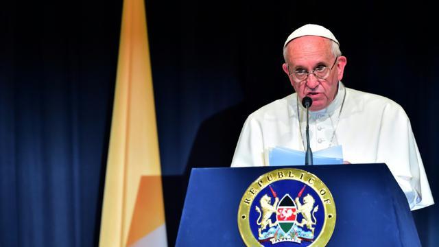 Le pape François fait un discours à Nairobi le 25 novembre 2015 [GIUSEPPE CACACE / AFP]