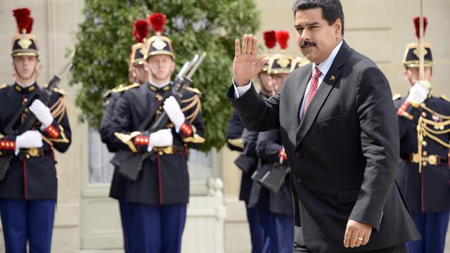 Le président vénézuélien, Nicolas Maduro, à l'Elysée le 19 juin 2013 [Bertrand Guay / AFP]