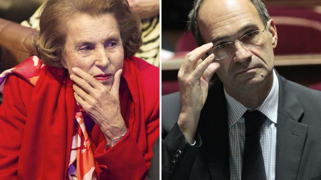 Une combinaison de photos montrant Liliane Bettencourt (g) et Eric Woerth [Fred Dufour/Jacques Demarthon / AFP/Archives]