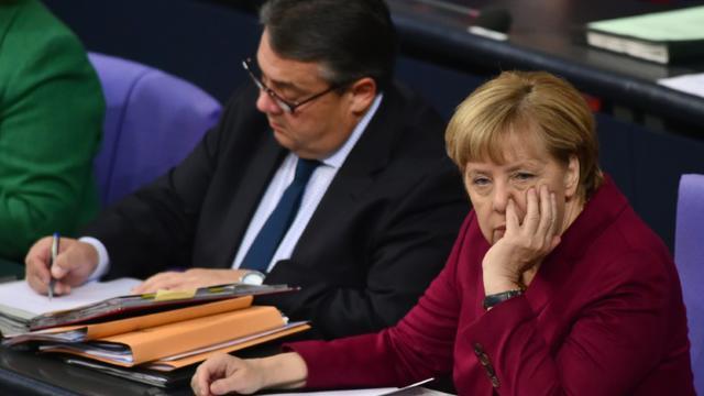"""""""Il faut une Europe de la solidarité, tout autre option est condamnée à l'échec"""", a lancé la chancelière allemande"""