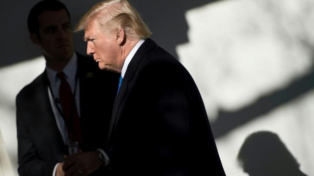 Donald Trump à Washington le 19 janvier 2018 [Brendan Smialowski / AFP]