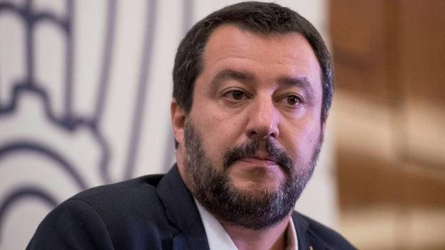 Le vice-premier ministre et ministre de l'Intérieur italien Matteo Salvini le 17 octobre 2018 à Moscou [Mladen ANTONOV / AFP/Archives]
