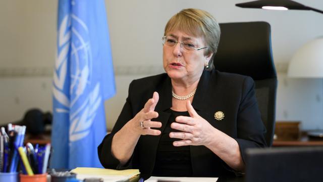 La cheffe de l'ONU pour les droits de l'Homme Michelle Bachelet à Genève le 3 septembre 2018  [Fabrice COFFRINI / POOL/AFP]