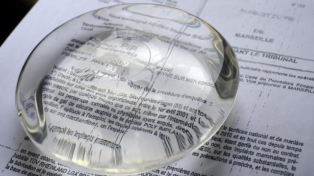 Une prothèse mammaire PIP  [Gerard Julien / AFP/Archives]