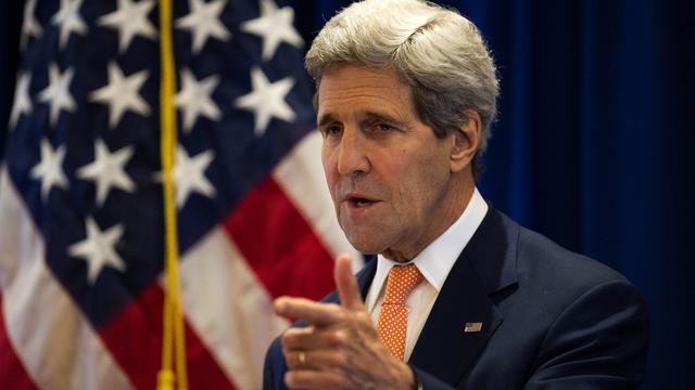 """Le secrétaire d'Etat américain, John Kerry, a """"exigé"""" mardi que la """"justice"""" soit rendue pour le crash en Ukraine du vol MH17  [Nicolas Asfouri / POOL/AFP/Archives]"""
