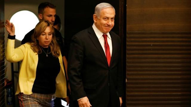 Le Premier ministre israélien Benjamin Netanyahu arrive à un rassemblement de son parti, le Likoud, à Jérusalme, le 18 septembre 2019 [MENAHEM KAHANA / AFP]