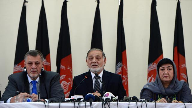 Les membres de la commission électorale indépendante afghane donnent une conférence de presse à Kaboul, le 31 juillet 2014  [Wakil Kohsar / AFP/Archives]