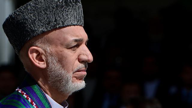 Hamid Karzaï à Kaboul le 19 aout 2014 [Wakil Kohsar / AFP/Archives]