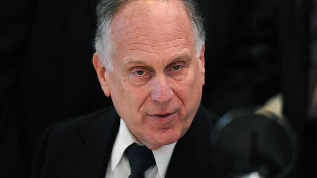 Le président du Congrès juif mondial Ronald Lauder le 5 mai 2013 à Budapest [Attila Kisbenedek / AFP/Archives]