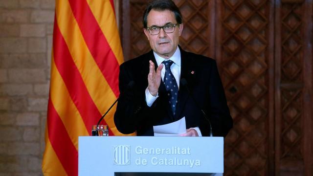 Le président nationaliste de la Catalogne, Artur Mas, à Barcelone le 8 avril 2014 [ / Deneralitat de Catalunya/AFP]