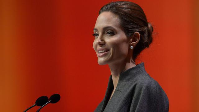 Angelina Jolie lors d'un sommet international sur les violences sexuelles en temps de guerre à Londres, le 13 juin 2014 [Carl Court / AFP/Archives]