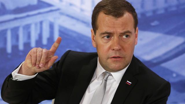 Le Premier ministre russe Dmitri Medvedev, le 20 juin 2014 à Saint-Pétersbourg [Dmitri Astakhov / Ria-Novosti/AFP/Archives]