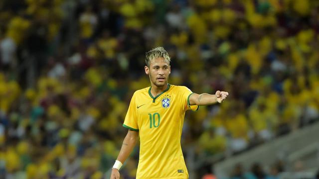 L'attaquant brésilien Neymar lors du match contre la Colombie, le 4 juillet 2014 à Fortaleza [Gabriel Bouys / AFP]