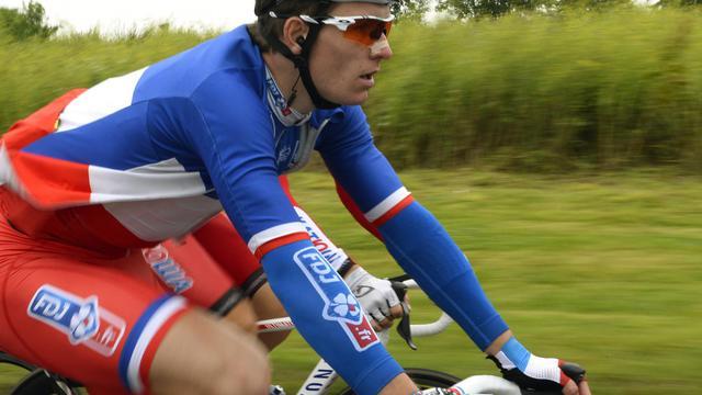 Arnaud Demare lors du Tour de France 2014, le 10 juin, entre Arras et Reims  [Eric Feferberg / AFP]