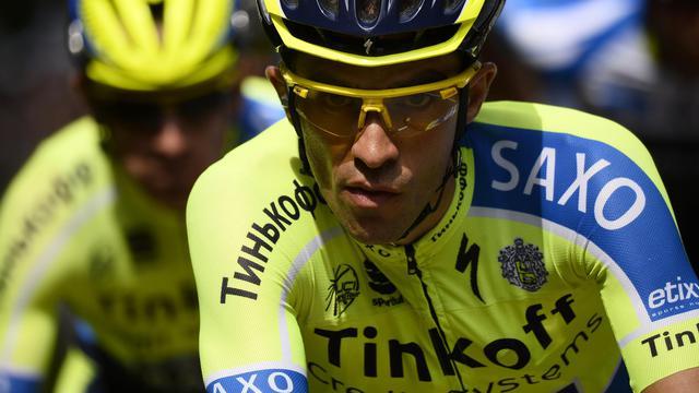 L'Espagnol Alberto Contador lors de la 8e étape du Tour de France, le 12 juillet 2014 entre Tomblaine et Gérardmer [Lionel Bonaventure / AFP]