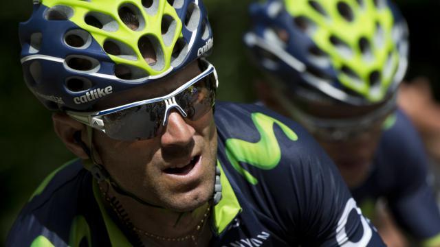 L'Espagnol Alejandro Valverde lors du Tour de France, entre Carcassonne and Bagnères-de-Luchon, , le 22 juillet 2014  [Lionel Bonaventure / AFP/Archives]